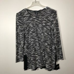 NWT Alfani Textured Sweater with Sheer Pleats XL